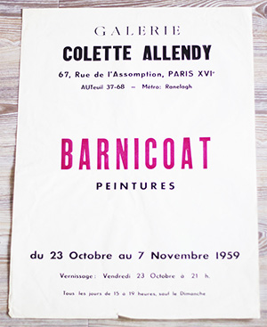 Exhibition Poster by John Barnicoat