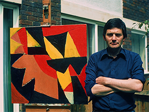 John Barnicoat outside his studio