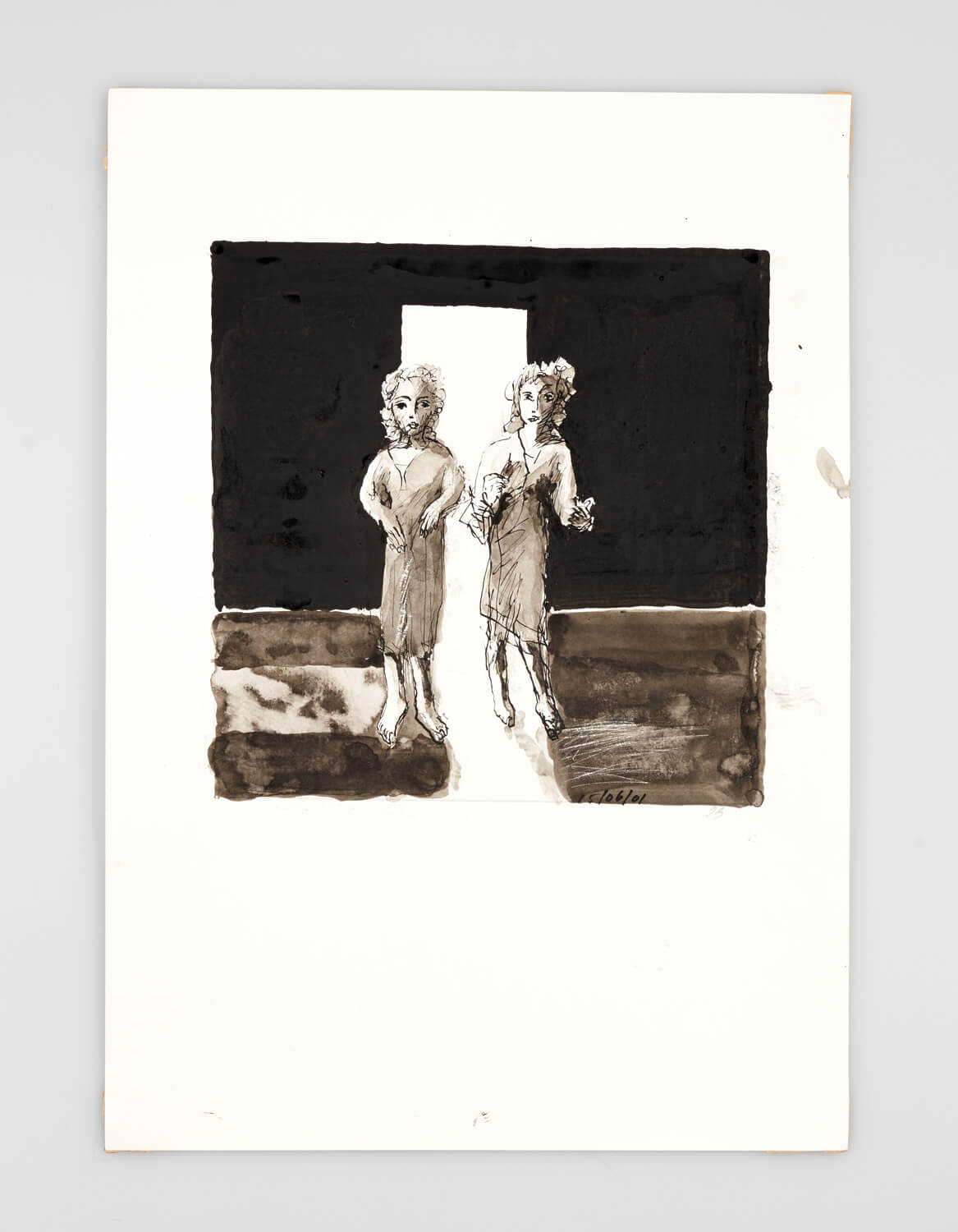 JB007 - Two Women: It looks perfect - 2001 - 50 x 35 cm - Indian ink and wash on paper