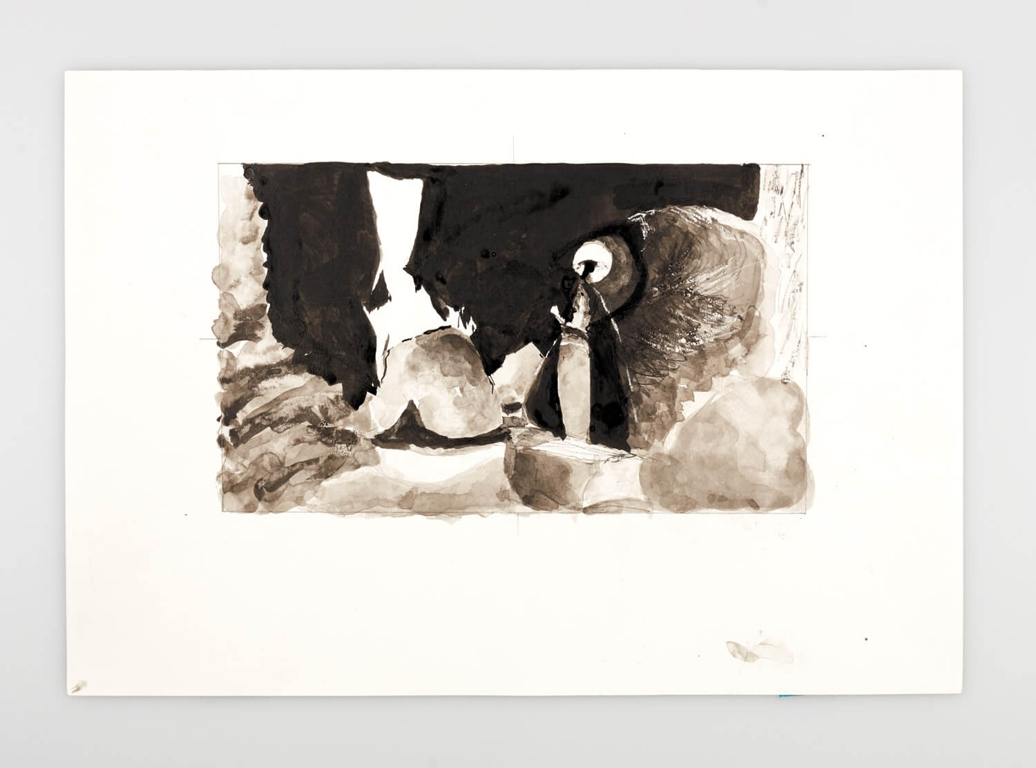 JB093 - Natural Forms Landscape study 1 - 1999 - 20 x 33 cm - Indian ink and w