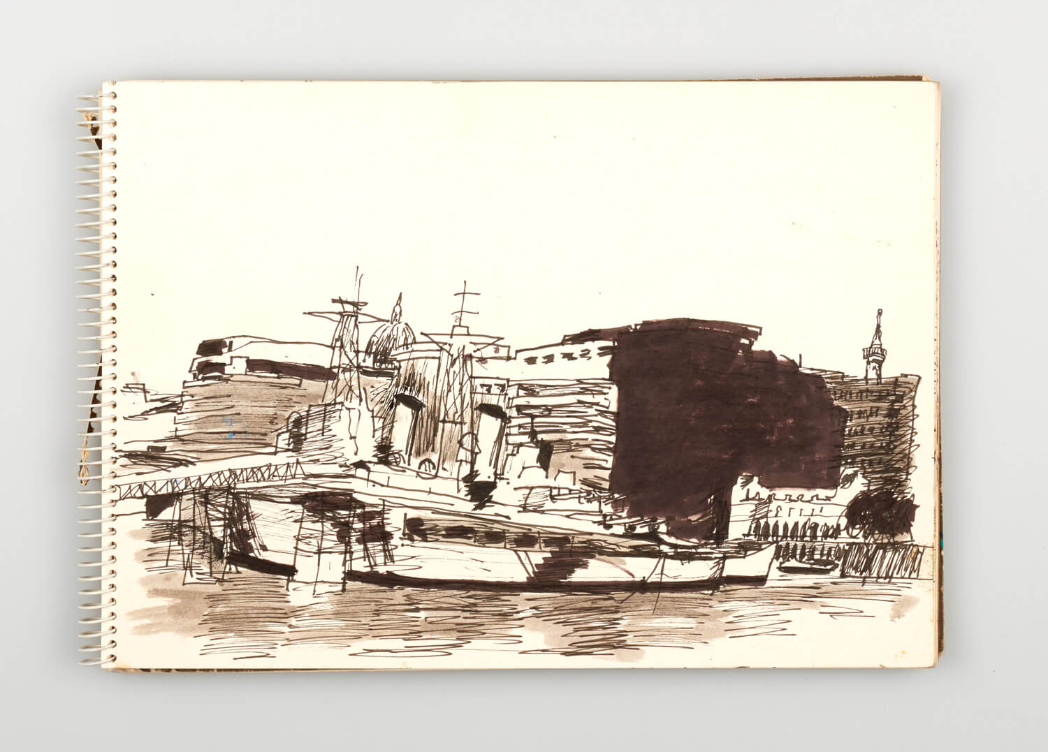 JB221 - Sketch for Bridges on the River Thames - 1992 - 21 x 30 cm - Pen and Ink on cartridge paper