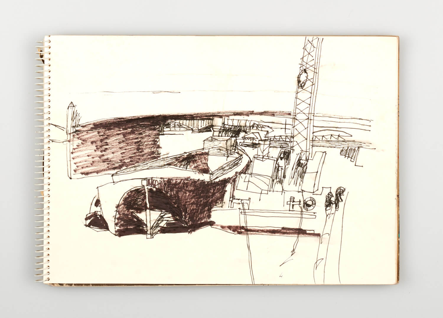 JB224 - Sketch for Bridges on the River Thames - 1992 - 21 x 30 cm - Pen and Ink on cartridge paper