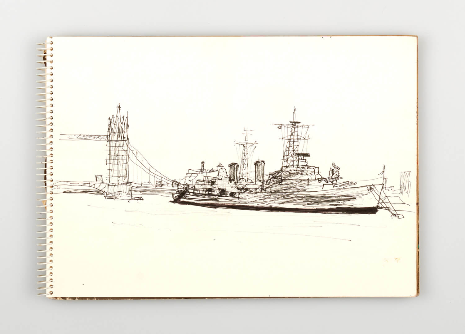 JB225 - Sketch for Bridges on the River Thames - 1992 - 21 x 30 cm - Pen and Ink on cartridge paper