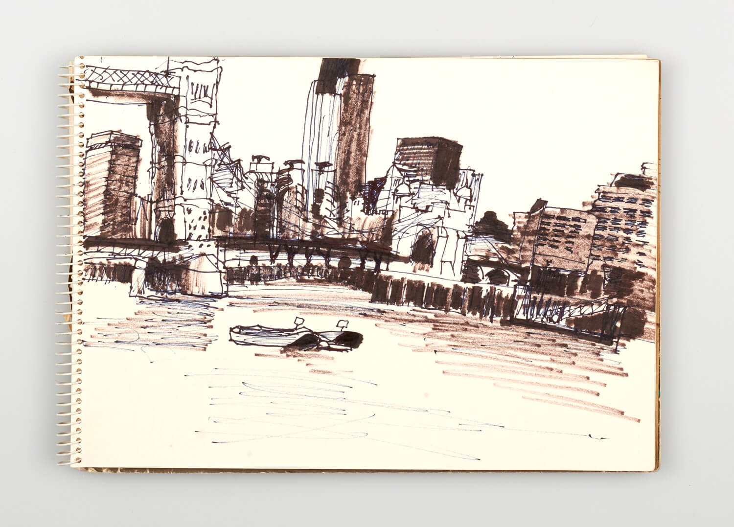 JB226 - Sketch for Bridges on the River Thames - 1992 - 21 x 30 cm - Pen and Ink on cartridge paper