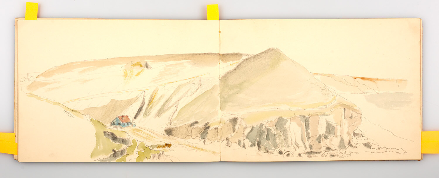 JB266 - Cornish Sketch Book 1946_48 - 1946 - 51 x 18 cm - Pencil and watercolour