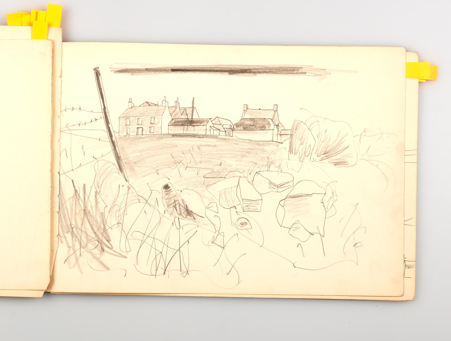 JB283 - Cornish Sketch Book 1948 - 1948 - 25 x 36.5 cm - Pencil