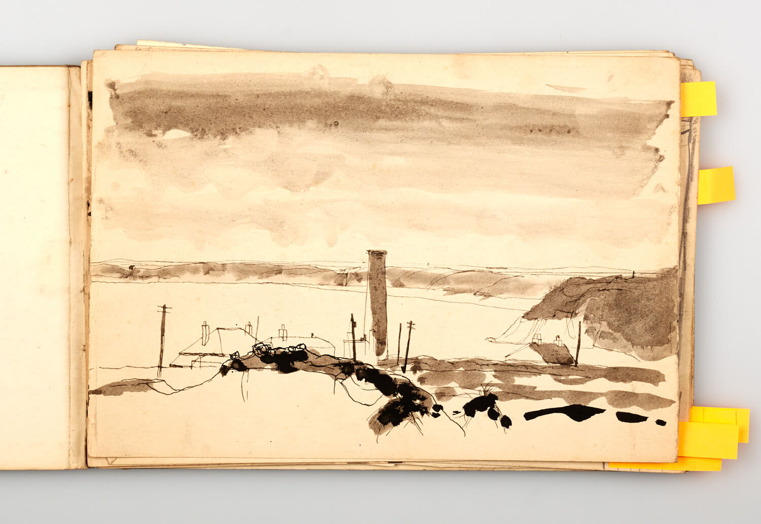 JB287 - Cornish Sketch Book 1948_49 - 1949 - 17.5 x 25.5 cm - Pen and wash