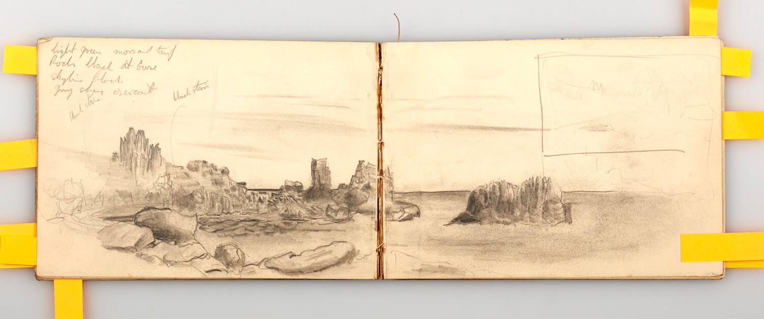 JB301 - Cornish Sketch Book 1946 - 1946 - 12.5 x 36.5 cm - Pencil