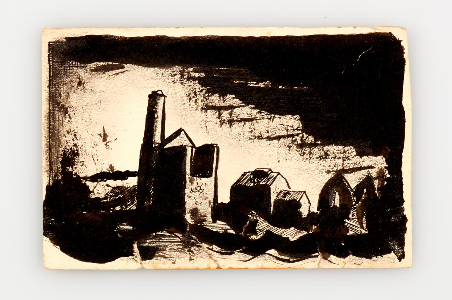 JB304 - Wheal Friendly, Cornwall - 1946 - 9 x 13.5 cm - Pen and ink and wash