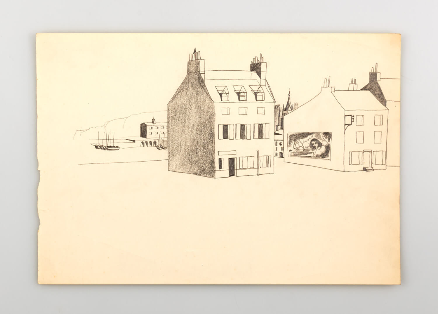 JB306 - Drawing, France - 1945 - 25.5 x 37 cm - Pencil